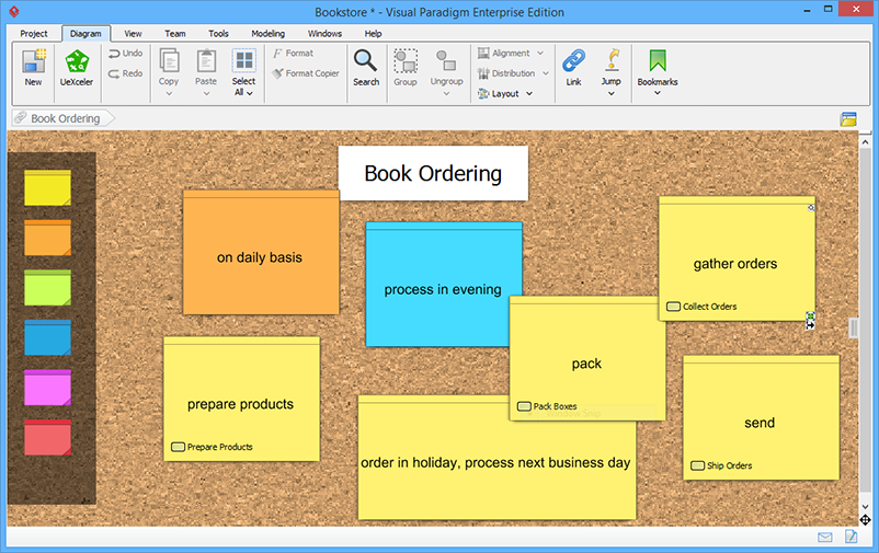 Brainstorm feature for note taking