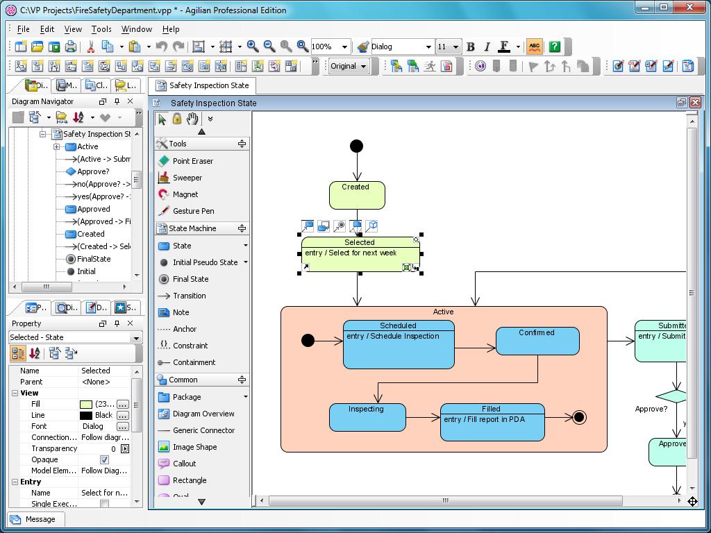 state machine diagram tool