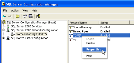 right click tcp ip properties