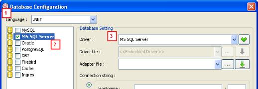 select lang server driver
