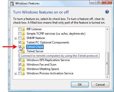 select telnet client