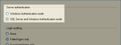 select sql and win auth