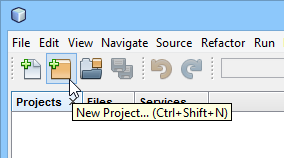 1 new netbeans project