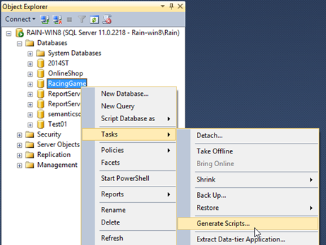 T sql ssrs sql management studio how to reverse database schema generating ddl file from database ccuart Images