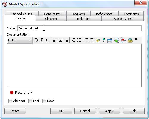 enter domain model name