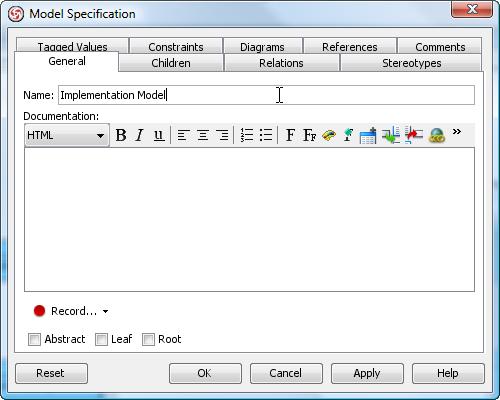 enter impl model name