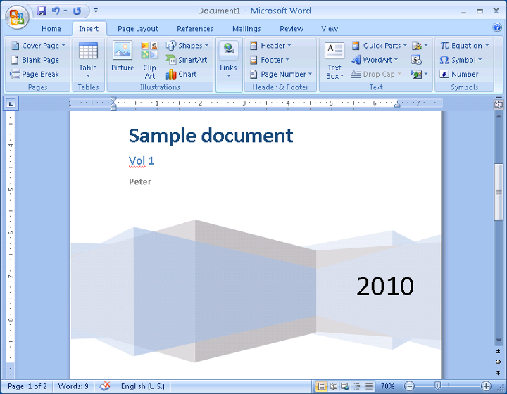 ms word 2007 template