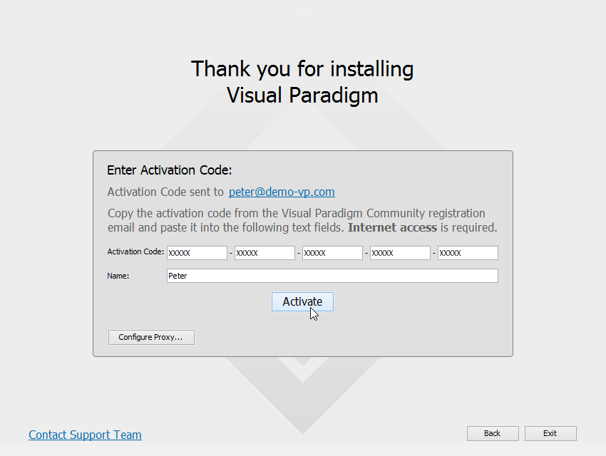 crack visual paradigm 14.2