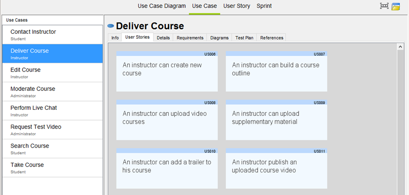 Manage User Stories with Use Cases