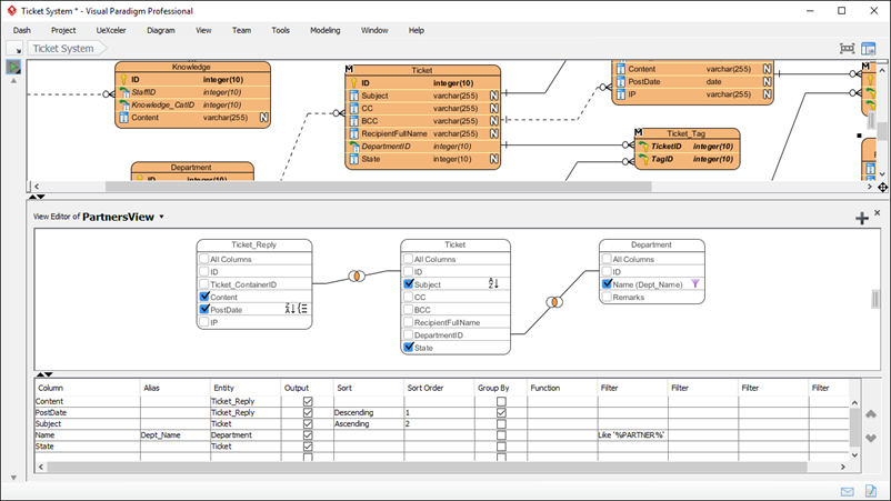 Database View Editor