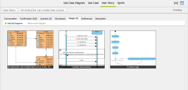 Keep the Design in User Story