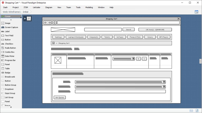 Web wireframe
