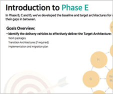 TOGAF - Introduction to Phase E