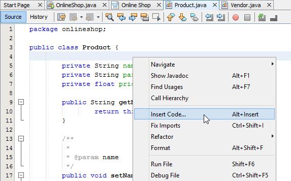 4 insert code