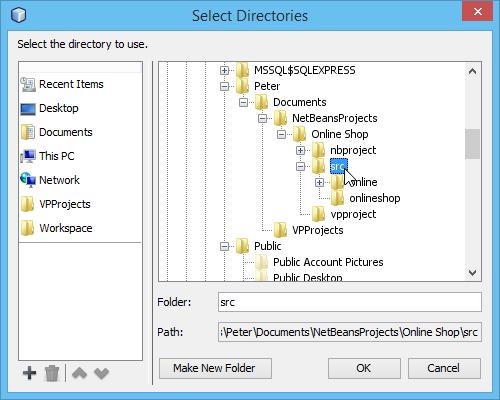 3 select src folder