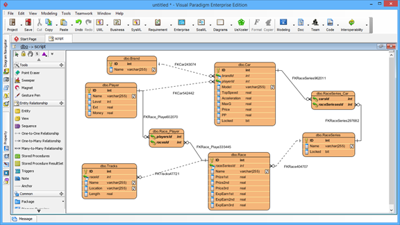sql server 2005 entity relationship diagram definition