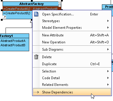 show dependencies