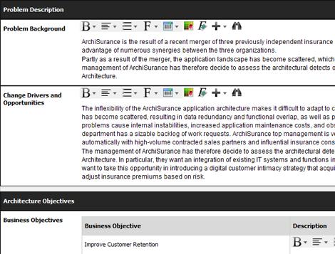 Form-based process deliverables